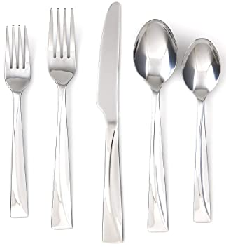Cambridge Silversmiths Jasper Mirror 20-Piece Flatware Set, Service for 4