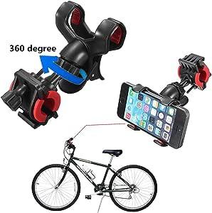 Soporte Universal Bici Bicicleta Moto para iPhone Samsung Smartphone GPS Móvil Bike Holder: Amazon.es: Deportes y aire libre