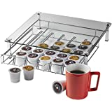 Home-it Glass k cup holder k cup storage Holder, Holds up 36 k cups metal Drawer for Keurig K-cup Coffee Pod Holder, Keurig K Cup Holders