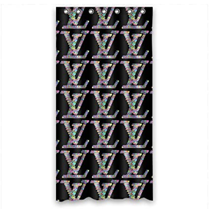 36x72 Inch 90x180 Cm Shower Curtains Comfortable Polyester Great Floral Lv Louis Vuitton Famous Topbrand Logo Amazonca Home Kitchen
