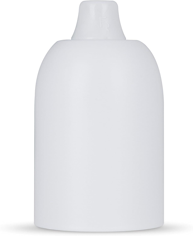 Zugentlastung Kunststoff Lampenfassung E27 /& Fassungsh/ülse Metall inkl schwarz