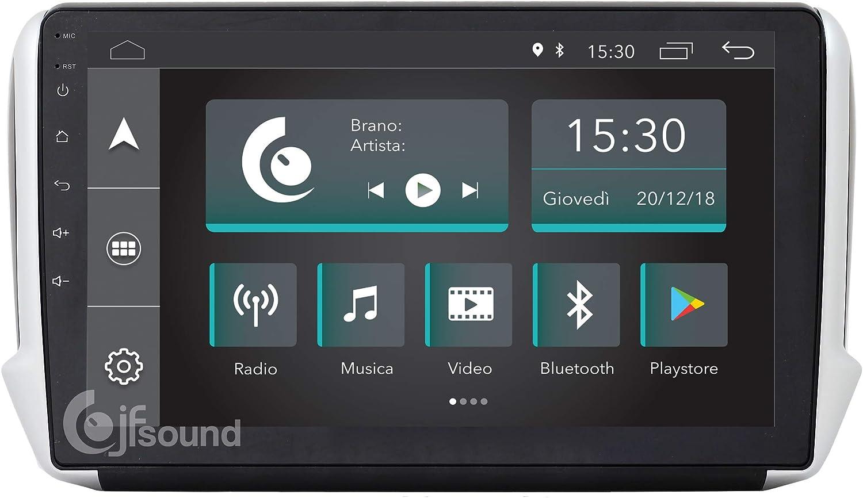 Jfsound - Radio de Coche Custom Fit para Peugeot 2008, con Android 8.1 4Core, 2 Puertos USB Integrados, GPS, Wi-Fi y Pantalla de 10 Pulgadas, Easyconnect: Amazon.es: Electrónica