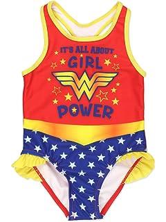 d8d1175546 Amazon.com  LC Boutique Little Girls One Piece Super Hero Ruffle ...