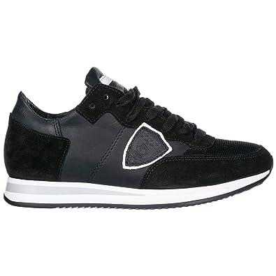 0056c6290e5 Philippe Model Chaussures Baskets Sneakers Femme en Daim Tropez Noir EU 37  A1UNTRLD5004