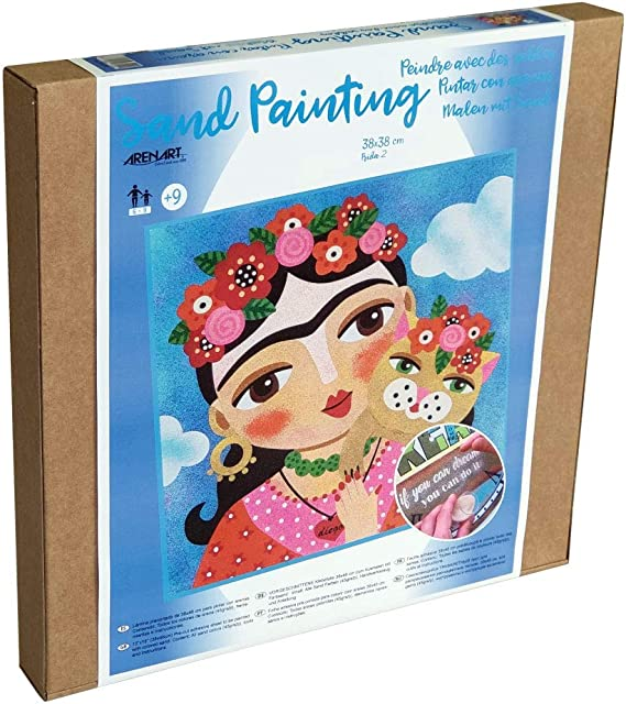 L/ámina de Mascota Maska 30x38cm  para Pintar con Arenas de Colores Dibujo Infantil Arenart +6 a/ños Manualidades para Ni/ños