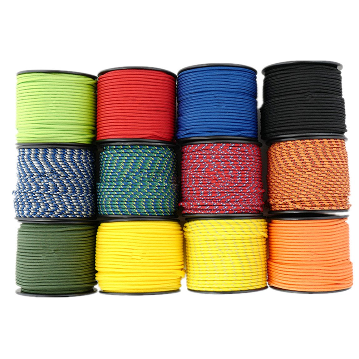 1//8 164ft Diamond Braid Nylon Rope,5 Strands Paracord Utility Rope,Multipurpose Nylon Twine 3mm