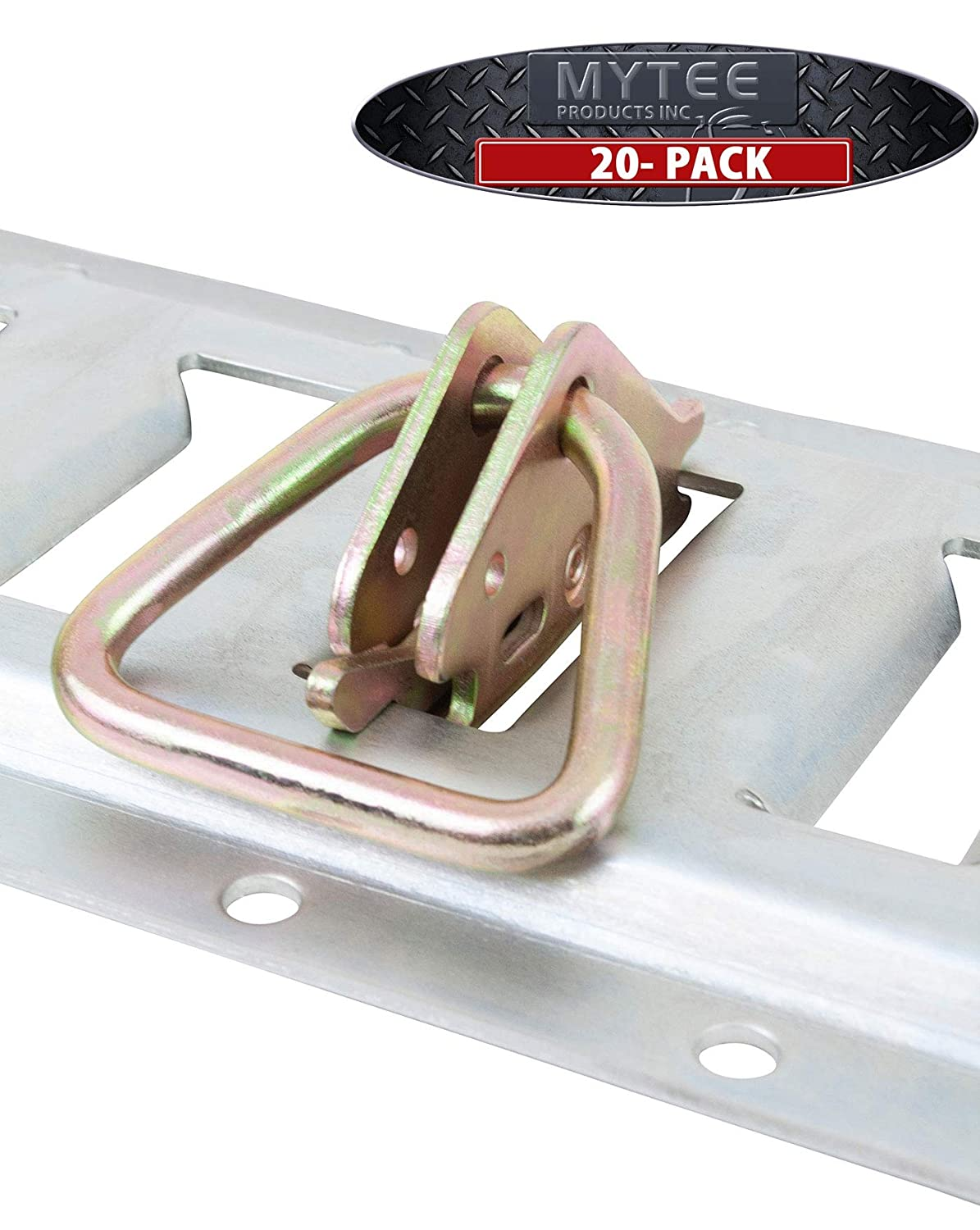 10 Pcs Secure Cargo in Enclosed//Flatbed Trailers Trucks Steel E-Track D Ring Tie-Down Anchors for E-Track TieDown System