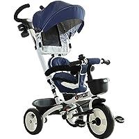 HOMCOM Triciclo Bebé Plegable 4 en 1 Trolley