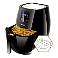 Cozyna SAF-32 Digital Air Fryer Touchscreen (3.7QT) with 2 airfryer cookbooks