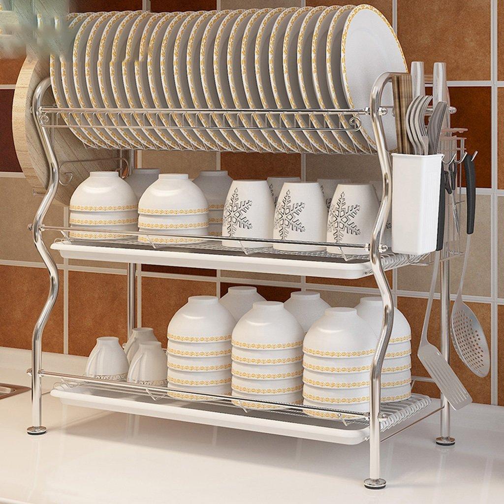 Hyun times Kitchen 304 Stainless Steel Dishui Dishui Ju Lishui Storage Supplies Dish Three - Shelf