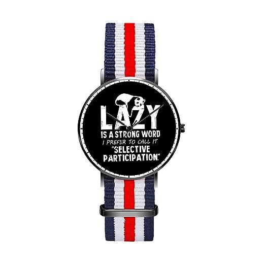 Reloj personalizado con diseño de rayas multicolores, reloj de pulsera analógico resistente al agua para niños, bonito reloj de panda: Amazon.es: Relojes
