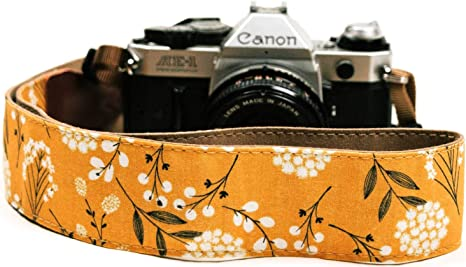Correa de cámara con Flores de primavera para cámaras DSLR ...