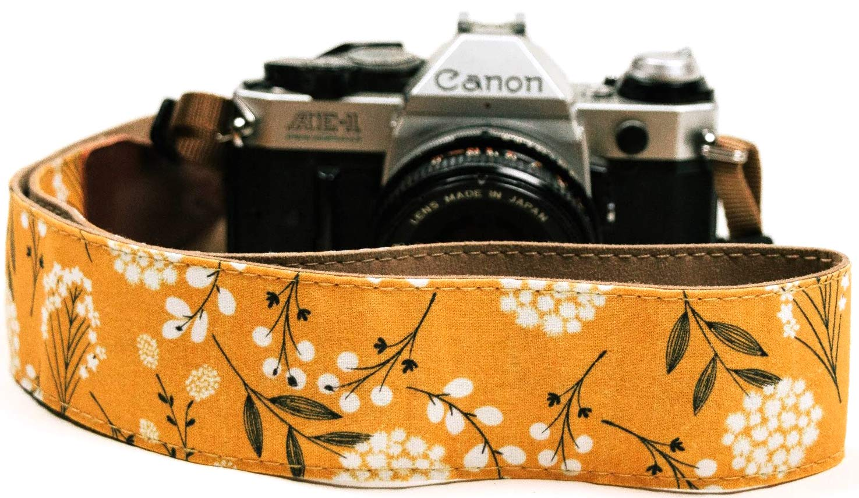 Spring Blossom Flowers Camera Shoulder Strap Belt for All DSLR Camera - Vibrant Design Universal DSLR Strap, Multi Color Neck Belt for Canon, Nikon, Sony,Pentax, Fujifilm, and Digital Camera by Art Tribute