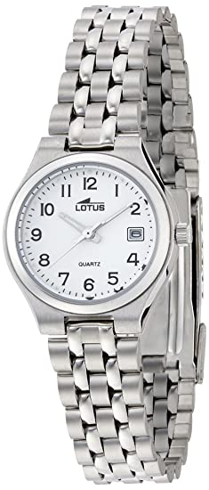 Lotus Reloj Analógico para Mujer de Cuarzo con Correa en Acero Inoxidable  15032 2  Amazon.es  Relojes 1e26c6944a4e