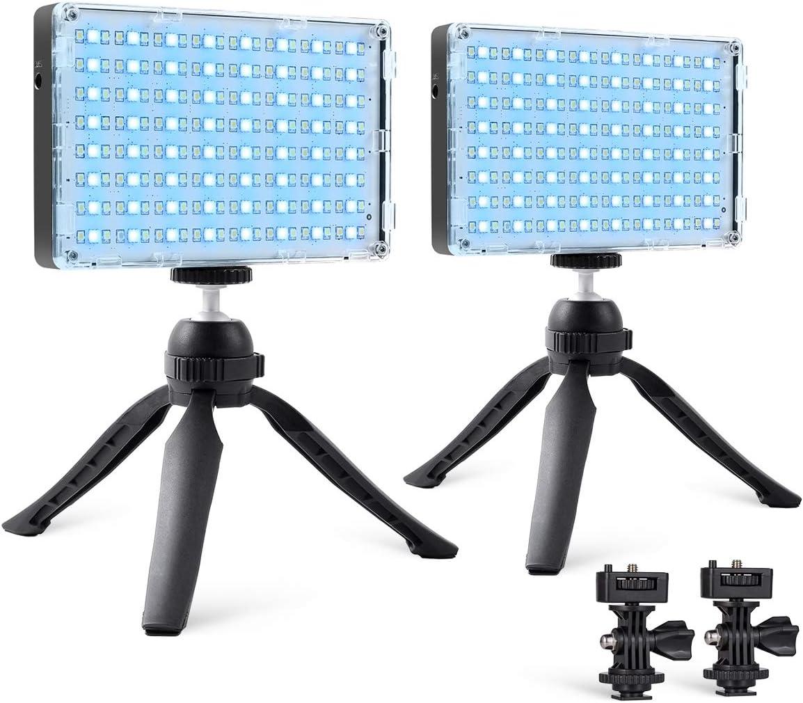 Gvm Rgb Kamera Licht 2 Packungen Led Video Licht Panel Kamera