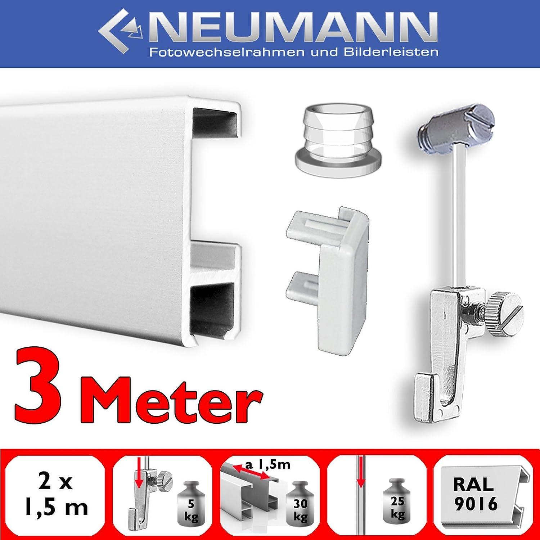 3m Or 9, 84 ft.Or 3, 28 Yard Picture Hanging kit with Slide in Hanger Neumann Bilderrahmen