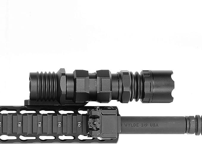 Leapers UTG Keymod Offset Flashlight Tactical Torch Ring Mount Black RG-FL27KC
