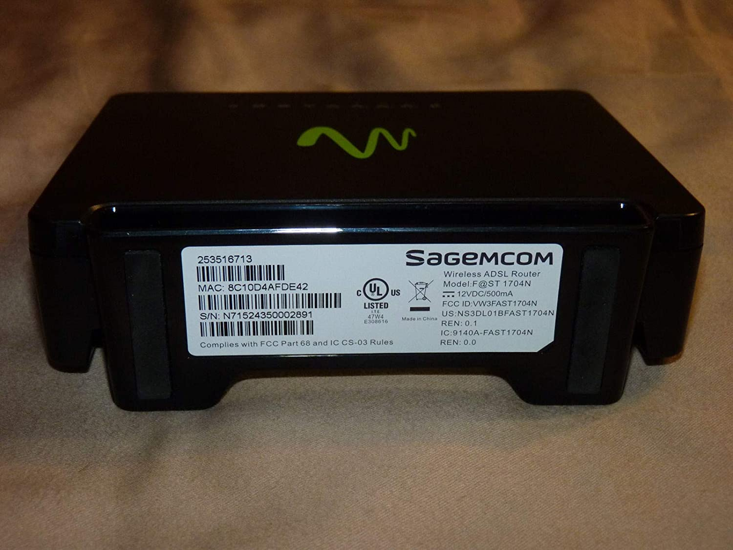 Sagemcom Windstream 802 11n N Wireless Modem Router Model: F@ST 1704n