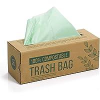 150 compost afvalzak, 6L 8L 10L afvalzak voor keukenafval, 100% afbreekbare afvalzak is gemaakt van maïszetmeel met de…