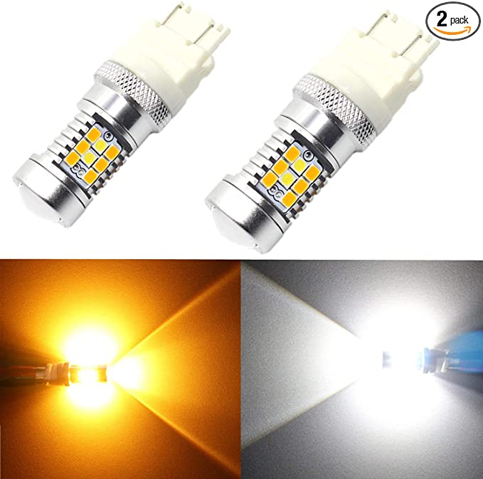 CREE 3157NA 4157NA White Amber Dual Color Switchback LED Turn Signal Bulb 2800LM