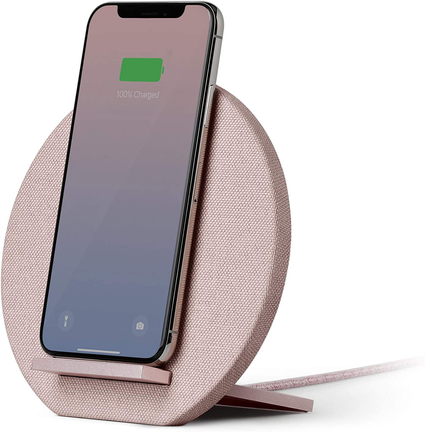Native Union Dock Wireless Charger Stand - High Speed [Qi Certified] 10W Versatile Fast Wireless Charging Stand - Compatible with iPhone 12/12 Pro/12 Pro Max/12 mini/11/11 Pro/11 Pro Max (Rose)