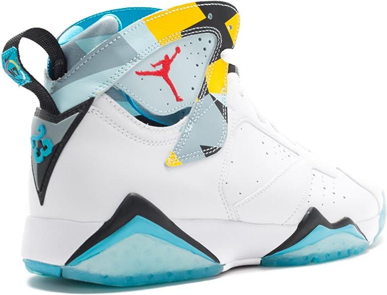 ad6477e4ecb Mens Air Jordan 7 Retro N7 White/Ice Blue-Dark Turquoise Leather. Air  Jordan Retro 7 N7 ...