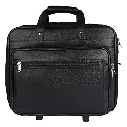 802f6d1f9 Mex Office Black Leather Laptop Trolley Bag - Buy Mex Office Black ...