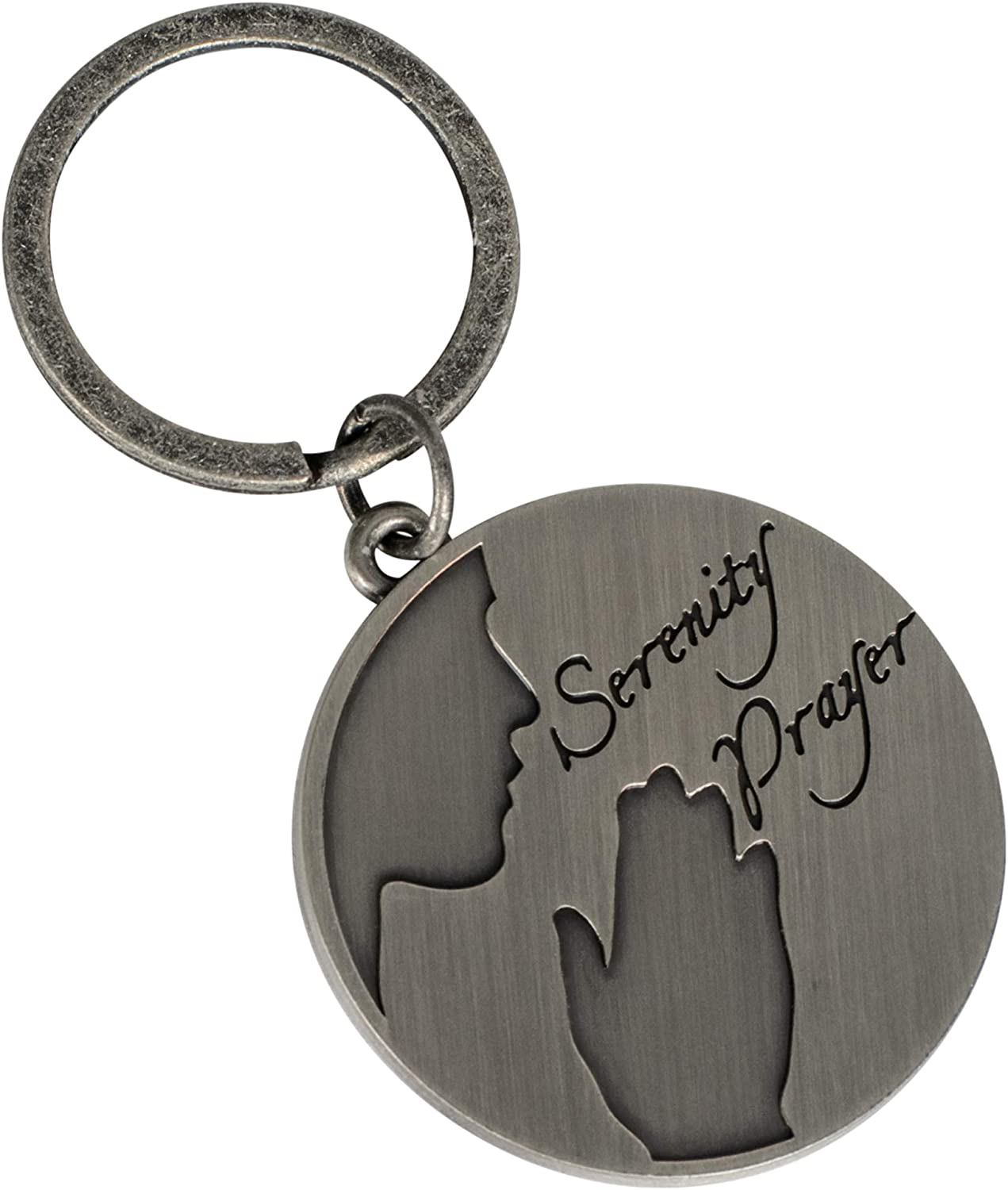 The Serenity Prayer Pendant Necklace or Key Chain  Inspirational Motivational Gift