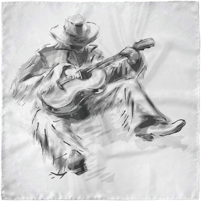 Cowboy and Guitar Eastern Ambesonne Music Head Scarf Hair Wrap