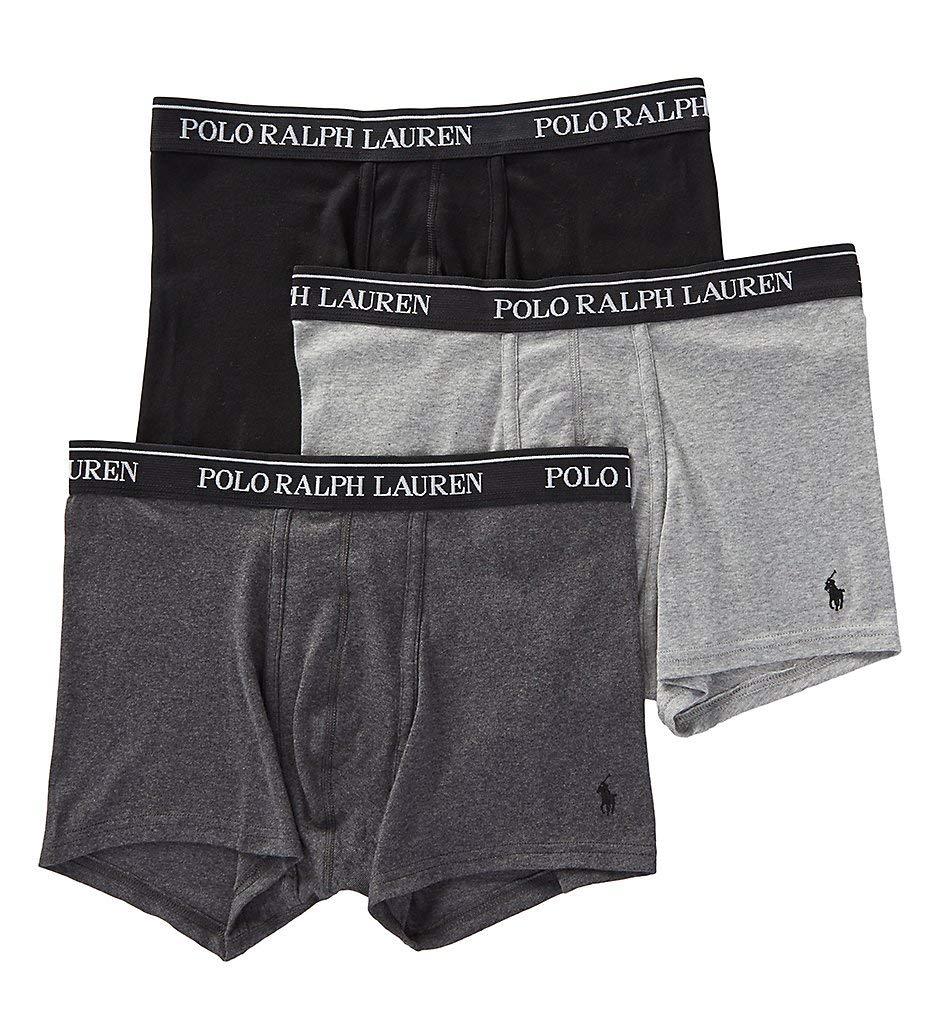 Polo Ralph Lauren Classic Fit 100% Cotton Trunks - 3 Pack (RCTRP3) L/Andover/Madison/Blk by Polo Ralph Lauren