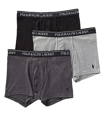 ec7f6ee7a0 Polo Ralph Lauren Classic Fit 100% Cotton Trunks - 3 Pack (RCTRP3) at  Amazon Men's Clothing store: