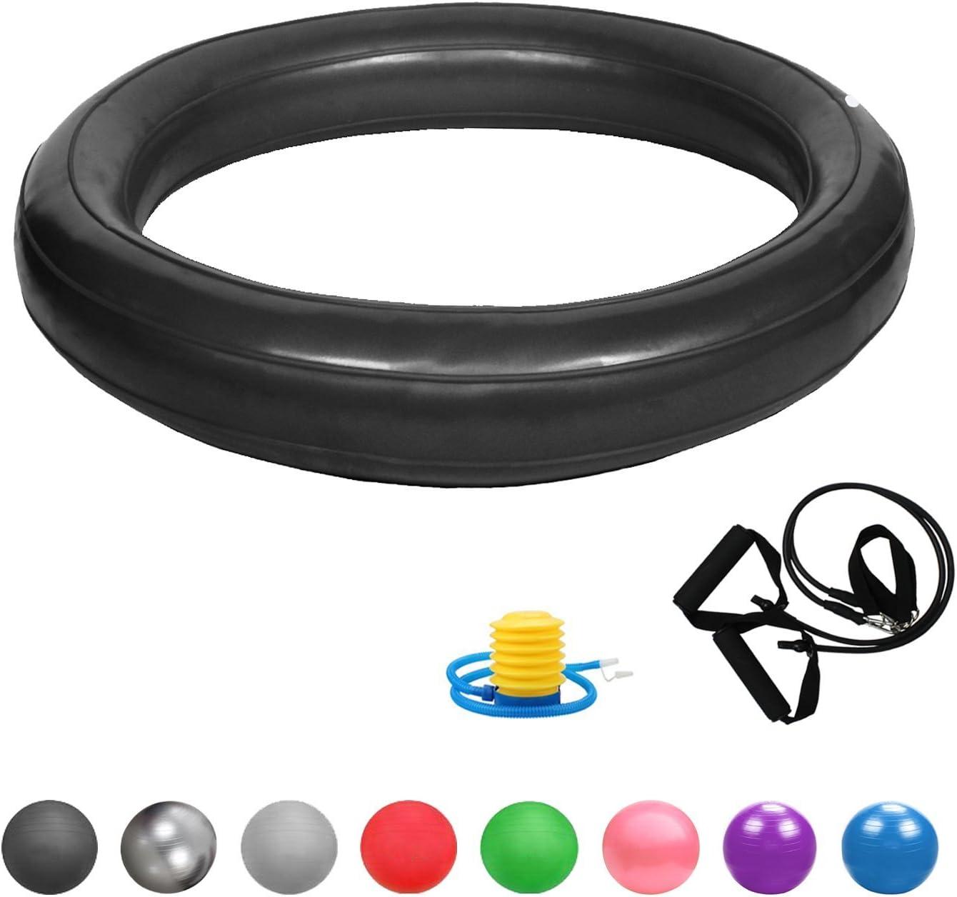 Ballschale Mini Pilates Ball Yogaball Widerstandsb/ändern Glamexx24 Weich Gymnastikball Dick Anti-Burst Sitzball Peziball Swissball Fitnessball Ballpumpe