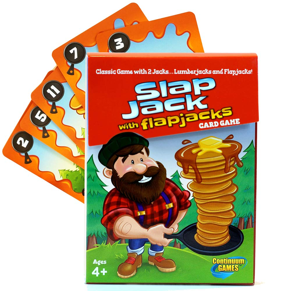Continuum Games Slap Jack Flap Jacks Card Game Kids Age 4 Up