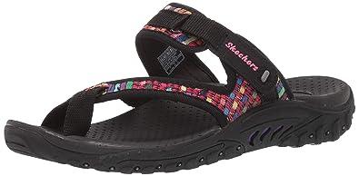 07916ea637a7 Amazon.com  Skechers Women s Reggae-Mad Swag-Toe Thong Woven Sandal ...