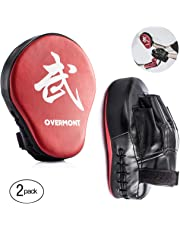 Overmont 2PCS Curved Punch Mitts Punching mitts Boxing Pads Boxing glove target pad for Karate Kickboxing MuayThai MMA Martial Art UFC Brazilian Jiu Jitsu Kick Boxing Practice