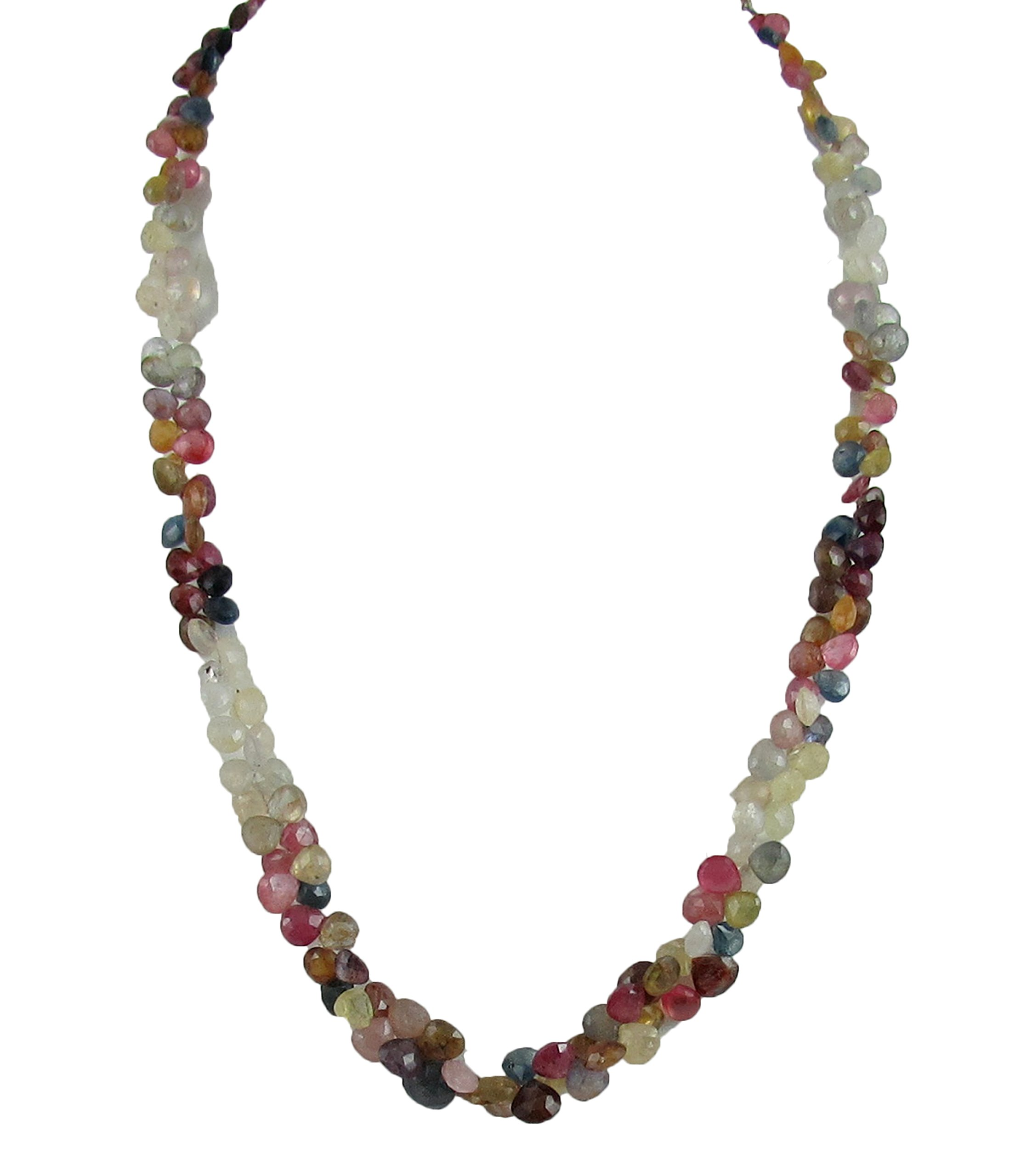D&D Natural Super Fine Tourmaline drop shape 1 line adjustable necklace with silver hook by D&D (Image #3)