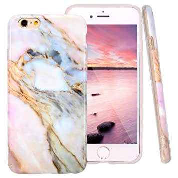 Funda iPhone 6s Marmol, ZXK CO Carcasa de Silicona Suave Case Cover Protección cáscara Soft Gel TPU Carcasa Funda para Apple iPhone 6/6S 4,7