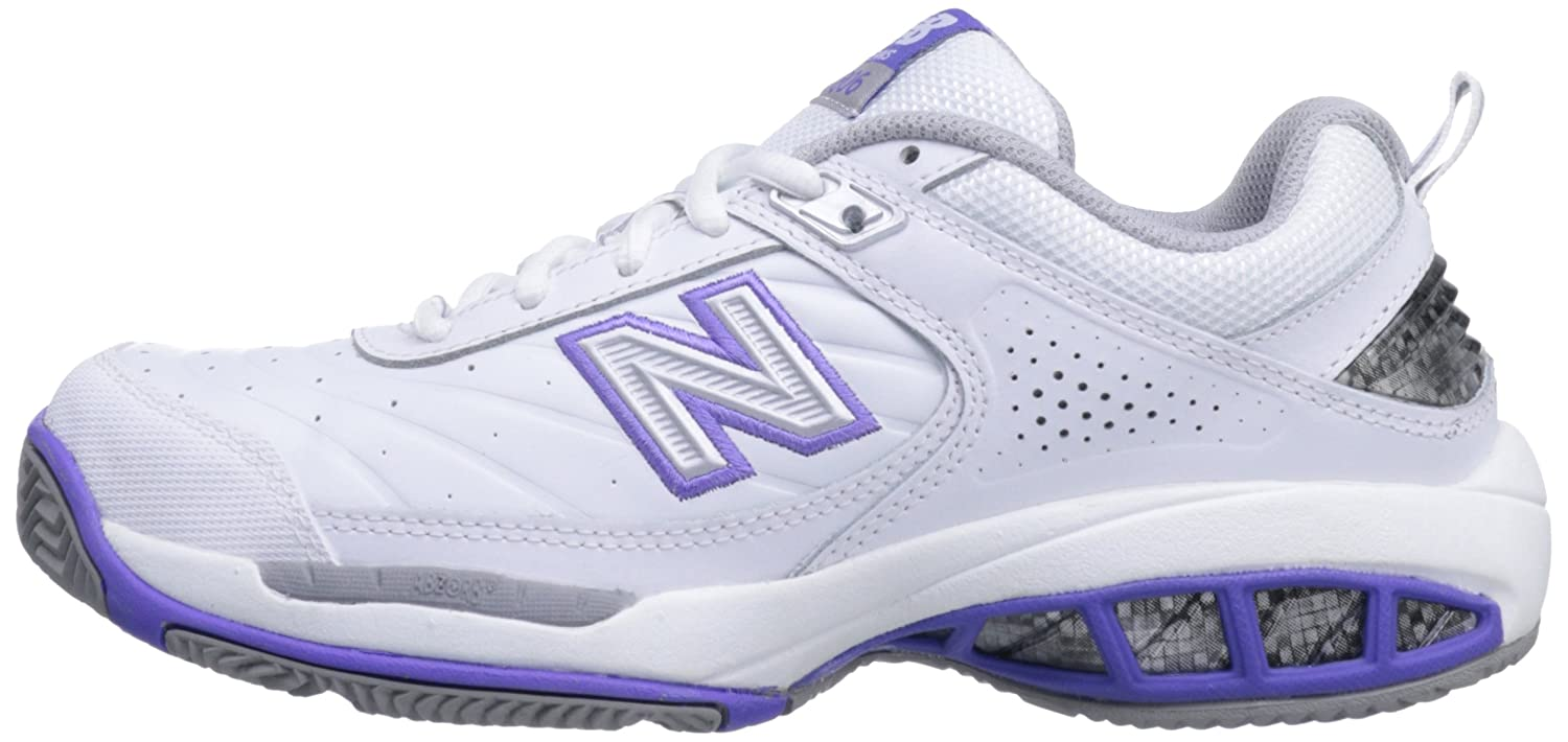 New Balance Women's WC806 Tennis-W Tennis Shoe B0098G2H26 5.5 D US|White
