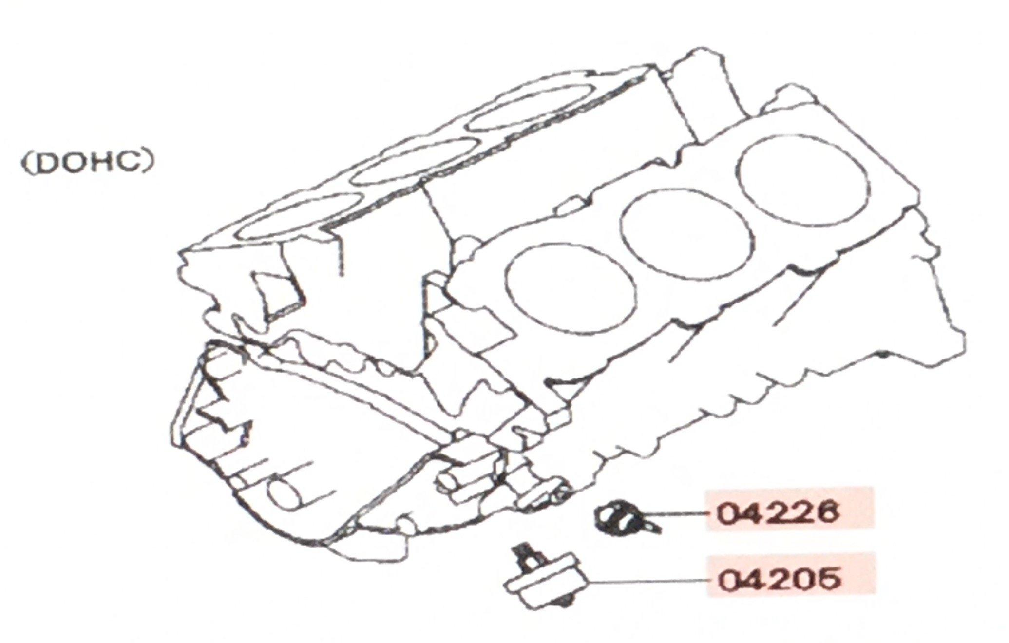 Mitsubishi Genuine Oil Pressure Sensor Set for Guage and Warning Light 1258A002 & MD133273 3000GT