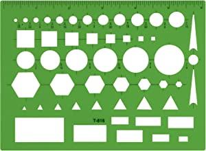 Westcott Technical All Purpose Drawing Template (T-816) , Green , 4 1/2 x 6 in