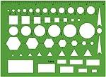 Westcott T-816 - Plantilla para dibujo técnico, color verde