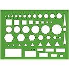 Westcott Technical Drawing Template (T-816), Green
