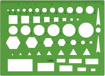Amazon.com: Westcott Technical Drawing Template (T-816): Arts ...