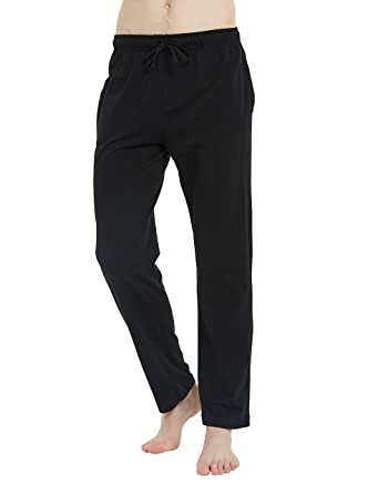 67bbe0471 U2SKIIN Mens Cotton Super Soft Lightweight Lounge Pajama Pants (Black