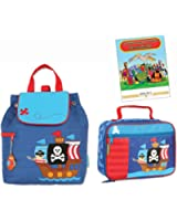 Stephen Joseph Quilted Backpack & Lunchbox, Pirate Ship