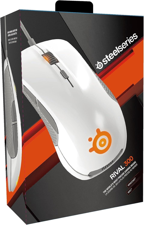 Steelseries Rival 300 USB Óptico 6500DPI Mano Derecha Blanco ...