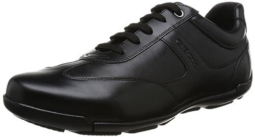 Geox U743BB Edgware Sportlicher Herren Business Sneaker, Schnürhalbschuh, Freizeitschuh, Atmungsaktiv