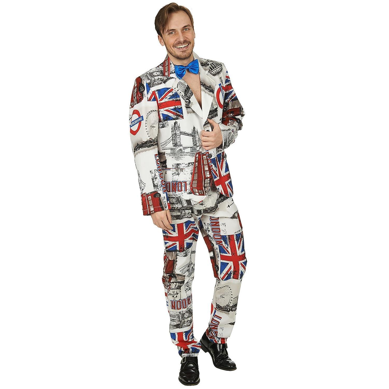 Engländer London Anzug für Herren - Lustiges Kostüm für Fasching, Mottoparty und Junggesellenabschied