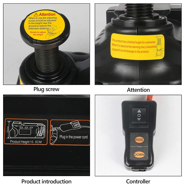 r/éparation durgence routi/ère BELEY Cric hydraulique hydraulique /électrique 12 V 5 tonnes Facile /à Utiliser pour Toutes Les Voitures