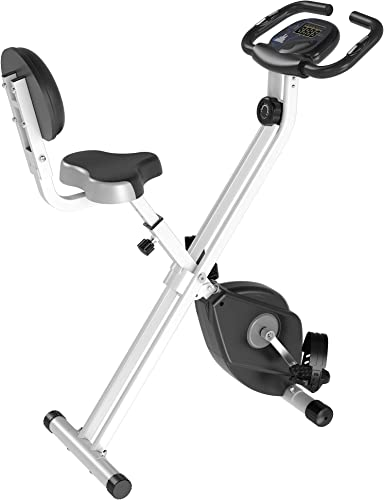 Soozier Foldable Upright Training Stationary Indoor Bike